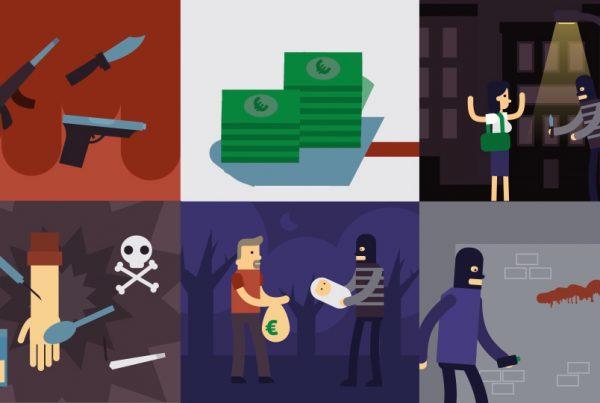 illustration of criminals